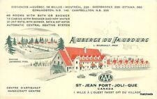1940s St Jean Port Joli Quebec Canada Auberge Du Faubdurg Restaurant 10594