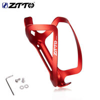 Full Aluminum Alloy Bicycle Water Bottle Cage MTB Road Bike Bottle Holder Red