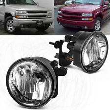 for 2004-2006 Chevy Suburban Tahoe Z71 Clear Bumper Fog Light Lamps w/Bulbs PAIR
