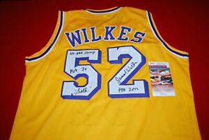 JAMAAL WILKES Los Angeles Lakers signed Jersey JSA witnessed HOF 2012 COA 2