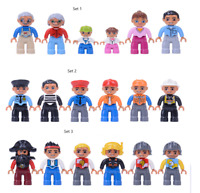 Community figure set Family Members Pirate roleplaying police (Duplo Compatible)