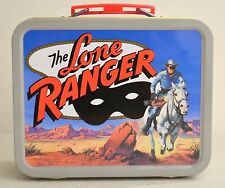 """THE LONE RANGER & TONTO"" Cheerios Commerative Tin Lunch Box 5""x4""x2"""