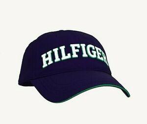 NWT MENS TOMMY HILFIGER BASEBALL CAP/HAT~NAVY / WHITE~OS