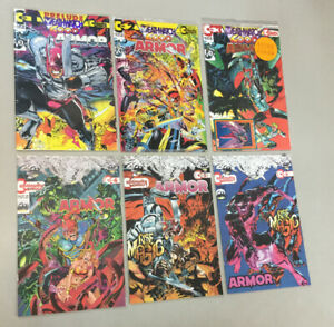 Armor 1-6 Complete Set 1 2 3 4 5 6 Continuity Comics 1993 Neal Adams (AM02)