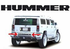 Piano Black Letter Inserts For Hummer H2 Rear Bumper New Free Shipping USA