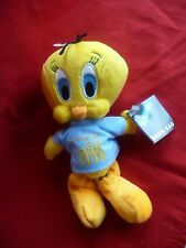 "NEW!! Warner Brothers Looney Tunes ""CUTE TWEETY""  8"" BEAN BAG PLUSH, NWT!"