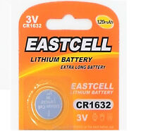 50 x CR1632 3V Lithium Batterie 120 mAh (10 Blistercard a 5 Batterien EASTCELL)