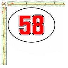 sticker sic 58 adesivi auto moto marco simoncelli OVALE 58  helmet decal 1 pz