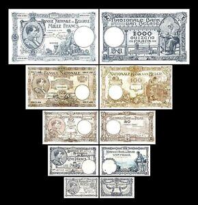 Bélgica - 2x 1 - 1.000 Francs - Edición 1920 - 1927 -Reproducción - B 17