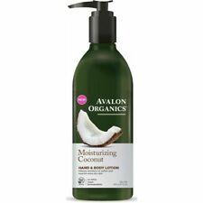 Avalon Organics Moisturising Coconut Hand & Body Lotion 340g  Bottle