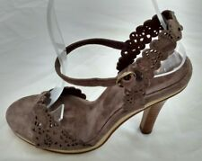 Womens Ladies French Connection Brown Suede Stiletto Heel Sandals Size 3/36 New