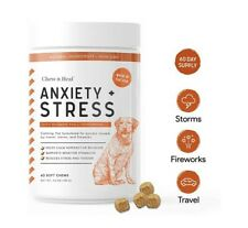 New listing Chew + Heal Calming Dog Anxiety Supplements - 60 Soft Chews - Stress Relief.
