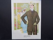 Men's Fashion, Suits, Clothing, 1920's Catalog, One Page, S1#05