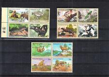 UNITED NATIONS 2000/2 TREE ANIMALS SETS MNH VF