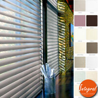 Window Sheer Shades Light Filtering Three Layer Fabric Roller Blinds Custom Made