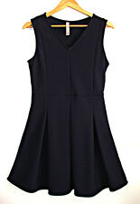SPRINGFIELD VESTIDO AZUL oscuro size L Dark blue vneck dress sleeveless