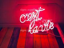 New C'est La Vie Acrylic Neon Sign 14'' Light Lamp Bar Wall Decor Display Gift