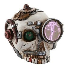 Steampunk Skull Plasma Plate Statue W Special Effects! Sealed Box 221PT104