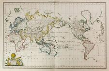 1812 - Mappemonde par Lapie. Carte ancienne du monde / Malte-Brun. Planisphère