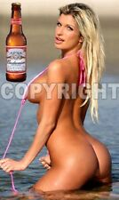 Fridge Magnet Sexy Bud Bikini Lake Blonde hot sexy pin-up bar girl babe bar art