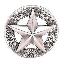 "Texas Star Antique Silver Screwback Concho 1"" 11373-40"