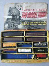 Ac Gilbert American Flyer Ho Die-Cast Tru-Model Train Set w/ Track in Box ~ Ts