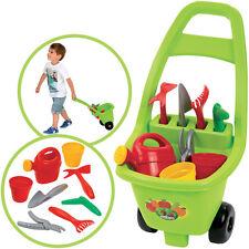 Ecoiffier Trolley mit Gartenzubehör Sandwagen Sandtrolley Gartenspielzeug Kinder