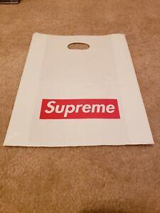 Supreme NY Plastic Tote Shopping Bag 13x16 Red Box Logo