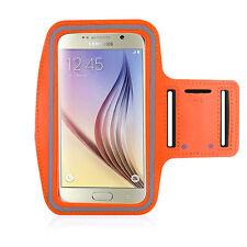 Running High Quality Adjustable Neoprene Armband Tie Samsung Galaxy S6 Orange