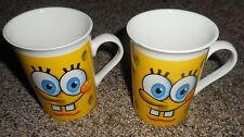 EUC  SPONGEBOB SET OF 2 MUGS/CUPS, 2012 VIACOM, FRANKFORD CANDY LLC, EUC