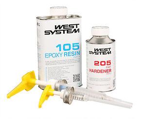 WEST SYSTEM Epoxidharz A-Pack 105-206, langsamer Härter + Minipumpenset 301-5A