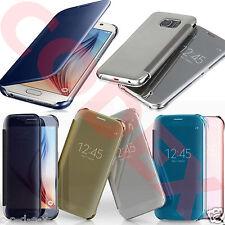 Funda Smart Clear View Transparente Flip Para Samsung Galaxy S6 S7 & EDGE + Plus
