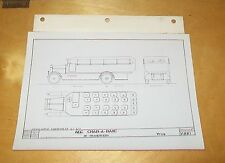 AEC CHAR-A-BANC 26 SEATER Y TYPE  A.E.C. BODY DRAWING PHOTOGRAPH V2110 1921