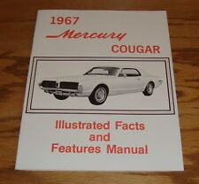 1967 Mercury Cougar Illustrated Facts & Features Manual Brochure 67