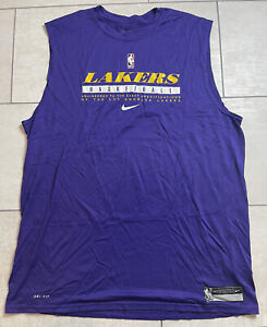 Nike NBA Los Angeles Lakers Player Issued Practice Sleeveless Size XXLT
