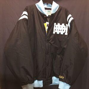 Rucker Vintage Basketball Collection Hawks Jacket Light Blue And Black Size 4XL