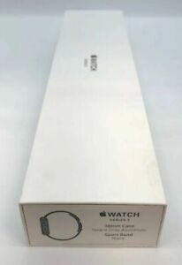 NEW! Apple Watch 3 (GPS, 38mm) Space Gray Aluminum Case Sport Band (MTF02LL/A)