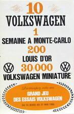 1966 VW COCINELLE COX  KARMANN 1600 CATALOGUE