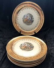 Edgewood China 22 Karat Warranted Gold Band, Colonial Court, 8 Dinner Plates