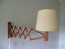 Exklusive TEAK Scherenlampe Lampe TEMDE Leuchte Teakholz 60er 60s