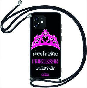 TPU Hülle mit Band Handy Kette Kordel Silikon Case Tasche Cover Bumper #KBX197