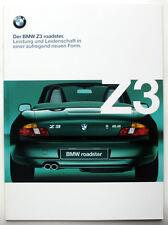 BMW Z3 Roadster 1.8, 2.0, 2.8 und M - Prospekt/Brochure von 1999, 48 Seiten !!