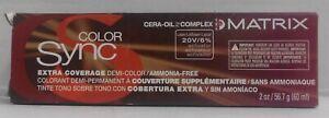 Matrix ColorSync EXTRA COVERAGE Demi Permanent Cream Hair Color ~2 fl. oz. Tube