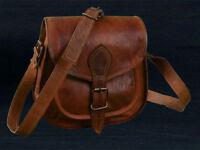 Women's Vintage Brown Leather Messenger Bag Shoulder Hippie Handmade Bag Purse