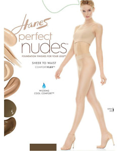 Hanes Women's Tan / Nude 5 Tummy Control Sheer To Waist Pantyhose Size XL