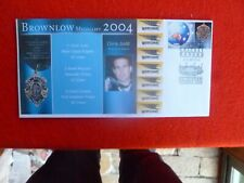 2004 BROWNLOW MEDAL STAMP FDI   FOOTBALL COVER CHRIS JUDD WEST COAST DL SIZE
