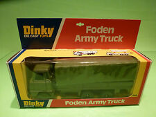 DINKY TOYS 668 FODEN ARMY TRUCK - GREEN  - RARE SELTEN - GOOD CONDITION IN BOX