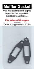 Nelson Q40 Exhaust/Muffler Gasket 2 Pack NIP