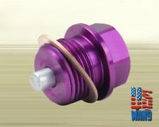 Purple Subaru Anodized Engine Magnetic Oil Pan Drain Plug Crush Washer M20 x 1.5