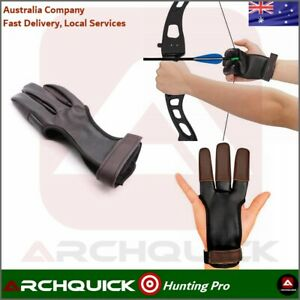 New Archery Shooting Glove 3 Finger Compound Recurve Bow Hunting Target Gear